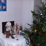 Вертеп у Рождественской ёлочки (в нашей трапезной - в подвальчике)