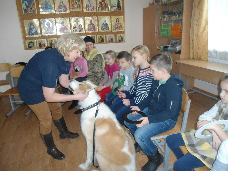 урок знакомство с собакой