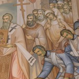 Преподнесение Ф. Ушакову иконы св. Спиридона Тримифунтского