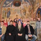 Настоятель Покрово-Никольского храма прот. Григорий Негурица и рабочая группа